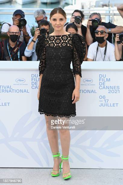 """Clotilde Courau attends the """"Benedetta"""" photocall during the 74th annual Cannes Film Festival on July 10, 2021 in Cannes, France."""