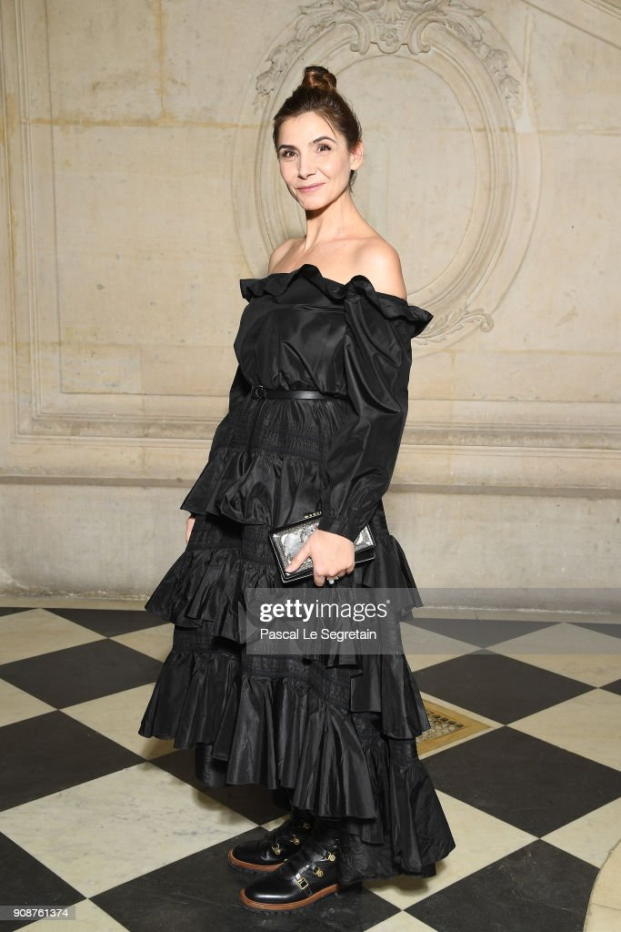 Clotilde Courau attends the Christian Dior Haute Couture Spring Summer 2018 show as part of Paris Fashion Week on January 22, 2018 in Paris, France.