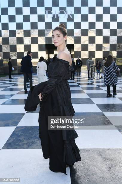 Clotilde Courau attends the Christian Dior Haute Couture Spring Summer 2018 show as part of Paris Fashion Week on January 22 2018 in Paris France