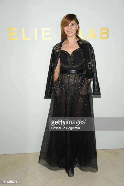 Clotilde Courau attends the Elie Saab Haute Couture Fall Winter 2018/2019 show as part of Paris Fashion Week on July 4, 2018 in Paris, France.