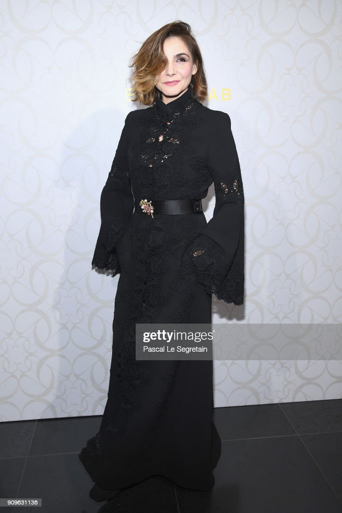 Clotilde Courau attends the Elie Saab Haute Couture Spring Summer 2018 show as part of Paris Fashion Week on January 24, 2018 in Paris, France.