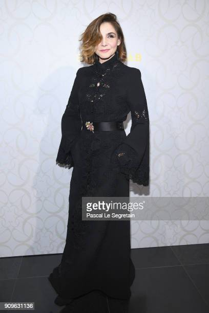 Clotilde Courau attends the Elie Saab Haute Couture Spring Summer 2018 show as part of Paris Fashion Week on January 24 2018 in Paris France