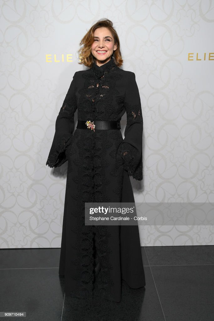 Clotilde Courau attends the Elie Saab Haute Couture Spring Summer 2018 show as part of Paris Fashion Week January 24, 2018 in Paris, France.