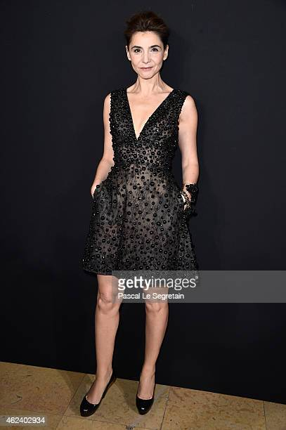 Clotilde Courau attends the Elie Saab show as part of Paris Fashion Week Haute Couture Spring/Summer 2015 on January 28 2015 in Paris France