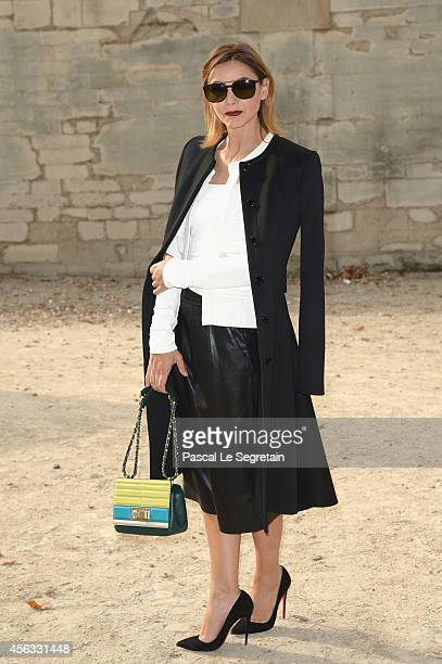 Clotilde Courau attends the Elie Saab show as part of the Paris Fashion Week Womenswear Spring/Summer 2015 on September 29 2014 in Paris France