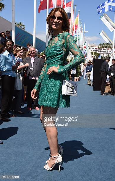 Clotilde Courau attends the Film Music Ischia Global Fest reception at the 67th Annual Cannes Film Festival on May 17 2014 in Cannes France