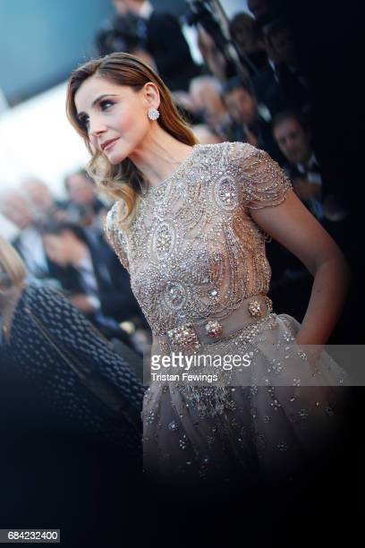 Clotilde Courau attends the 'Ismael's Ghosts ' screening and Opening Gala during the 70th annual Cannes Film Festival at Palais des Festivals on May...