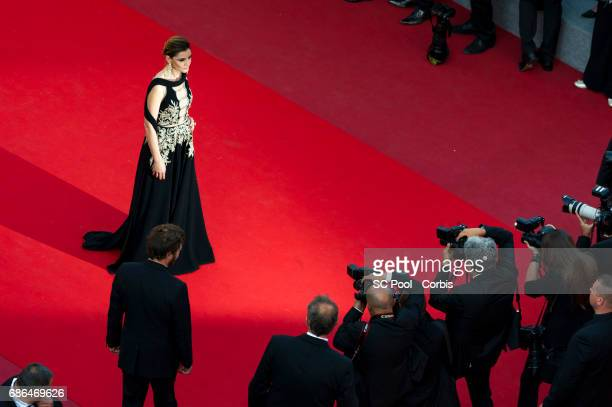"""Clotilde Courau attends """"The Meyerowitz Stories"""" premiere during the 70th annual Cannes Film Festival at Palais des Festivals on May 21, 2017 in..."""