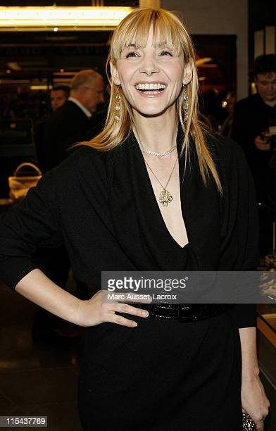 Clotilde Courau attends the opening of a new YSL store in Paris, at place Saint Sulpice, during the Fall/Winter 2008-2009 ready-to-wear collection...