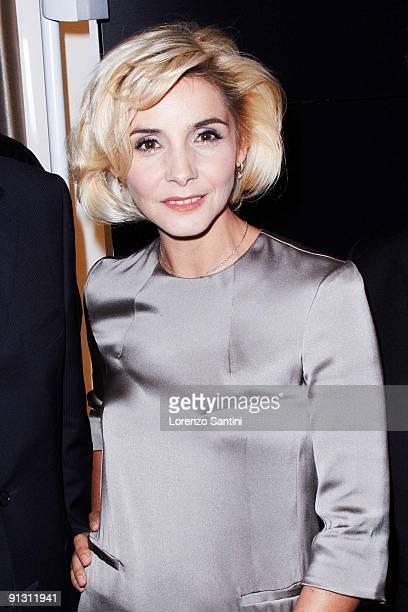 Clotilde Courau attends the Opening of Montblanc Paris Flagship at 7, rue de la Paix on October 1, 2009 in Paris, France.