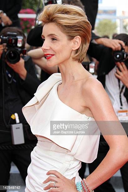 Clotilde Courau attends the premiere of 'Poetry' held at the Palais des Festivals during the 63rd Annual International Cannes Film Festival on May 19...