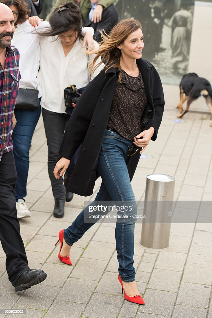 Clotilde Courau attends the Remake of the 1st Movie of the Lumiere Brothers , during the 5th Lumiere Film Festival, in Lyon.