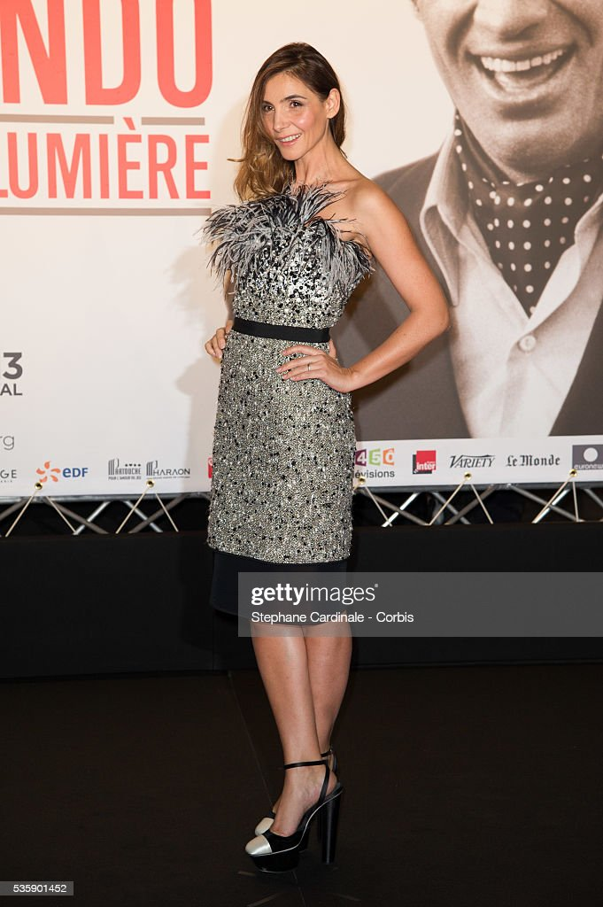 Clotilde Courau attends the Tribute to Jean Paul Belmondo and Opening Ceremony of the Fifth Lumiere Film Festival, in Lyon.