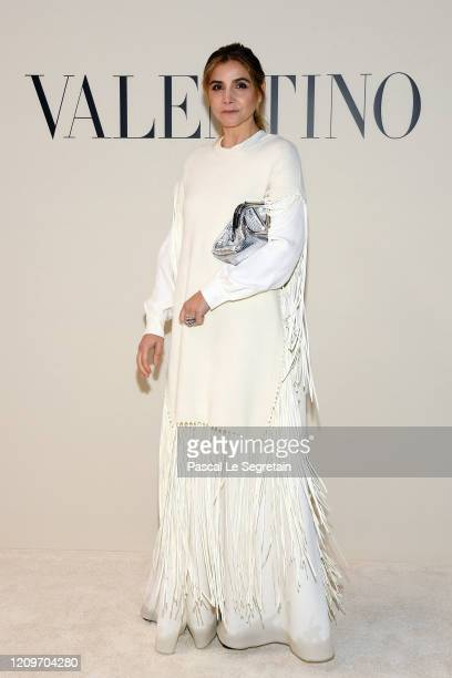 Clotilde Courau attends the Valentino show as part of the Paris Fashion Week Womenswear Fall/Winter 2020/2021 on March 01, 2020 in Paris, France.