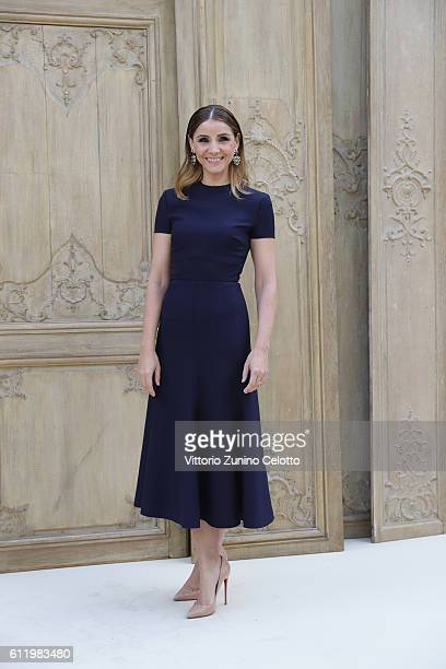 Clotilde Courau attends the Valentino show as part of the Paris Fashion Week Womenswear Spring/Summer 2017 on October 2 2016 in Paris France