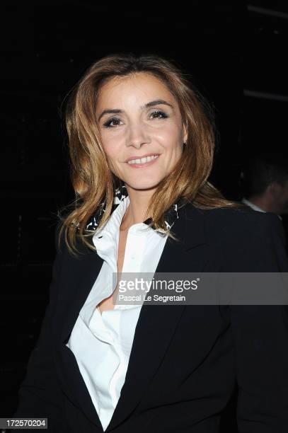 Clotilde Courau attends the ViktorRolf show as part of Paris Fashion Week HauteCouture Fall/Winter 20132014 at La Gaite Lyrique on July 3 2013 in...