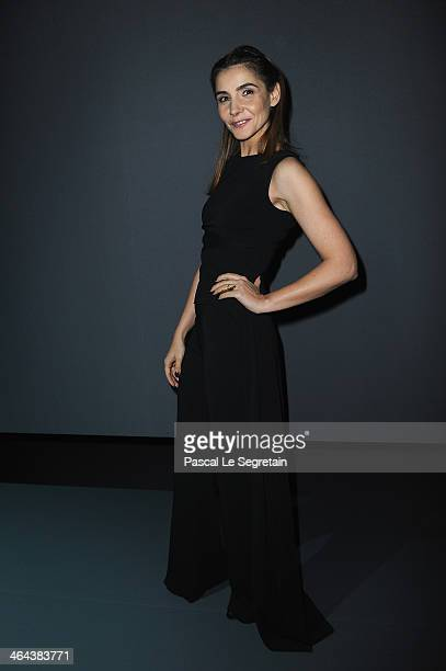 Clotilde Courau attends the ViktorRolf show as part of Paris Fashion Week Haute Couture Spring/Summer 2014 on January 22 2014 in Paris France