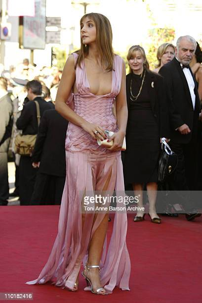 Clotilde Courau during 2003 Cannes Film Festival Mystic River Premiere at Palais des Festivals in Cannes France