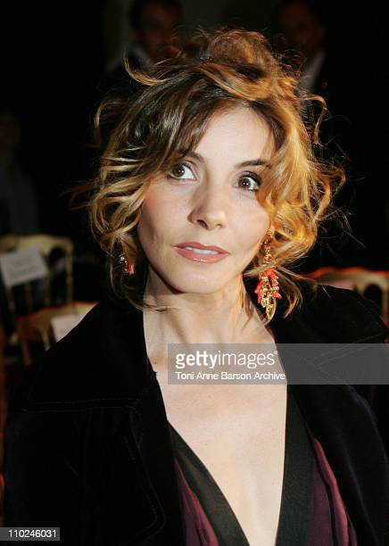 Clotilde Courau during Paris Haute Couture Fashion Week Fall/Winter 2005 Valentino Front Row at Theatre National de Chaillot in Paris France
