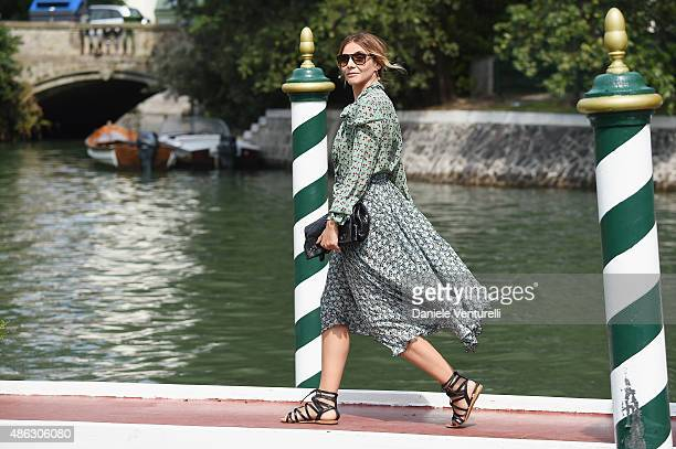 Clotilde Courau is seen on day 2 of the 72nd Venice Film Festival on September 3 2015 in Venice Italy