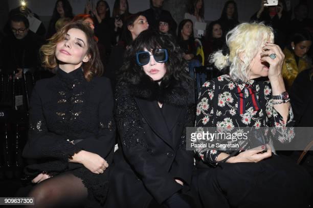 Clotilde Courau, Isabelle Adjani and Ellen von Unwerth attend the Elie Saab Haute Couture Spring Summer 2018 show as part of Paris Fashion Week on...