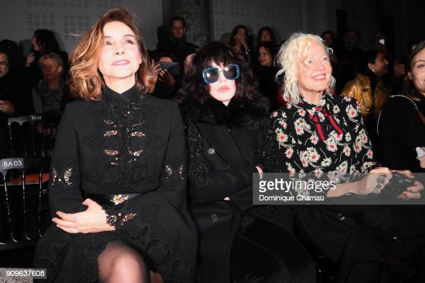 Clotilde Courau Isabelle Adjani and Ellen Von Unwerth attend the Elie Saab Haute Couture Spring Summer 2018 show as part of Paris Fashion Week on...