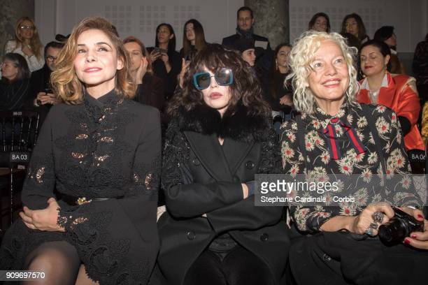 Clotilde Courau Isabelle Adjani and Ellen Von Unwerth attend the Elie Saab Haute Couture Spring Summer 2018 show as part of Paris Fashion Week...