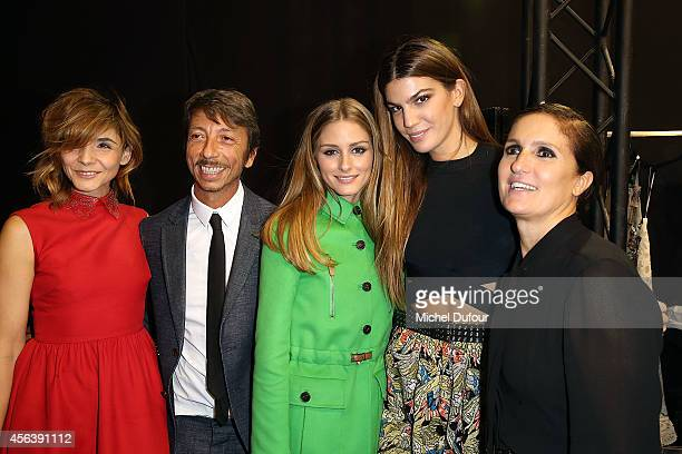 Clotilde Courau Pirpaolo Piccioli Olivia palermo Bianca Brandolini d'Adda and Maria Grazia Chiuri pose backstage after the Valentino show as part of...