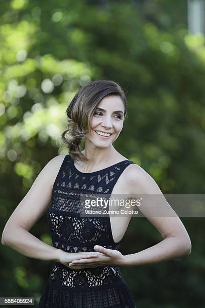 Clotilde Courau poses during the 69th Locarno Film Festival on August 8 2016 in Locarno Switzerland