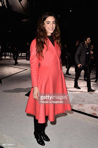 Clotilde de Kersauson attends the Giambattista Valli show as part of Paris Fashion Week Haute Couture Spring/Summer 2015 on January 26, 2015 in...