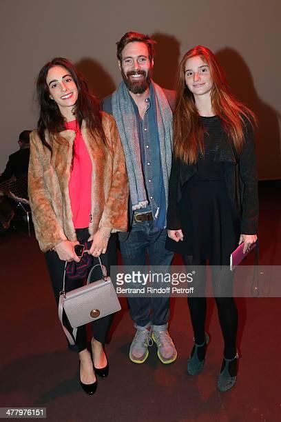 Clotilde d'Urso Arthur de Kersauson and Letizia Bemberg attend LVMH Prize SemiFinalists Designers Cocktail Party on February 26 2014 in Paris France