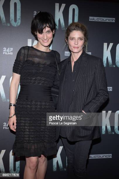 Clotilde Hesme and Chiara Mastroianni attend KO Premiere at Gaumont Capucines on June 9 2017 in Paris France