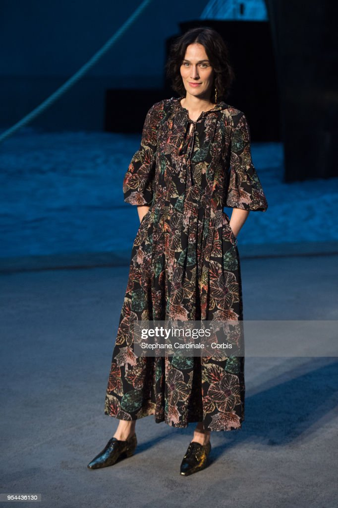 Clotilde Hesme attends the Chanel Cruise 2018/2019 Collection at Le Grand Palais on May 3, 2018 in Paris, France.
