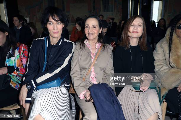 Clotilde HesmeDominique Blanc and Isabelle Huppert attend the Agnes B show as part of the Paris Fashion Week Womenswear Fall/Winter 2018/2019 on...