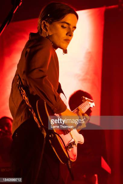 Clottie Cream of Goat Girl performs at Islington Assembly Hall on September 15, 2021 in London, England.