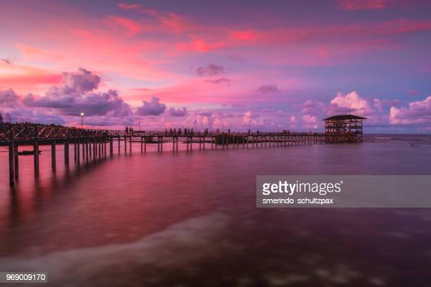 cloud 9 majestic sunset - mindanao stock pictures, royalty-free photos & images