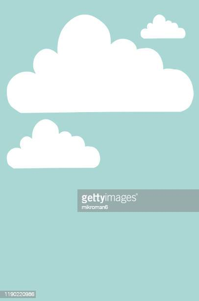 cloud and ladder - achieving dreams concept - cartoon stock pictures, royalty-free photos & images