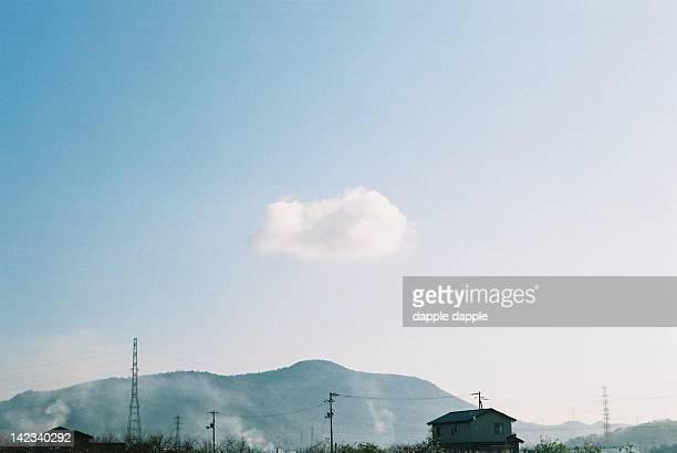 cloud and mountain - kagawa ストックフォトと画像