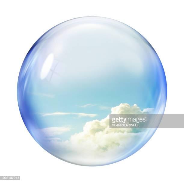 cloud bubble - 雰囲気 ストックフォトと画像