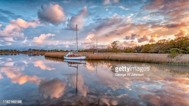 cloud burst - norfolk england stock pictures, royalty-free photos & images
