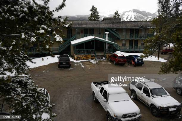 Cloud Cap condo complex with a view of the Breckenridge Ski Resort in the background April 26 2017 in Breckenridge Colorado Resident Jennifer...