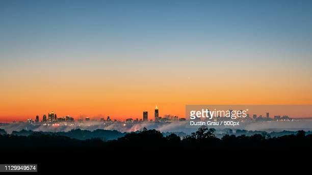 cloud city - atlanta skyline stock pictures, royalty-free photos & images