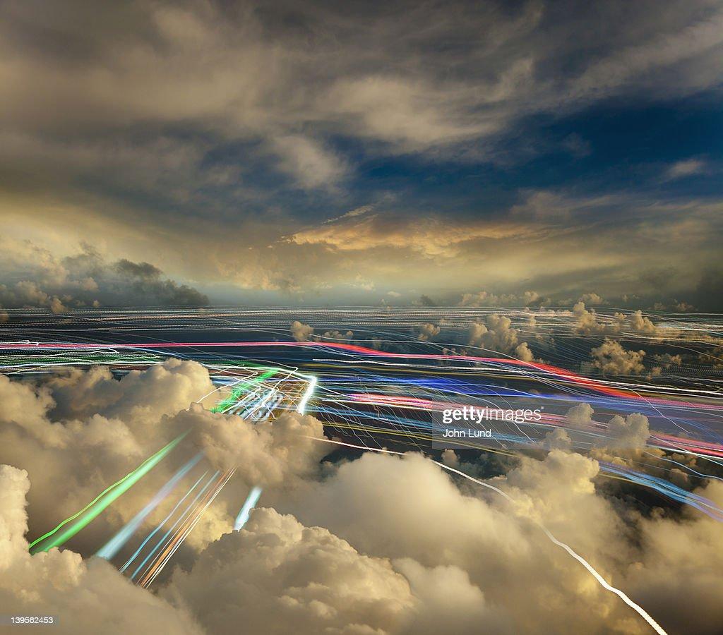 Cloud Computing And Wireless Communications : Bildbanksbilder