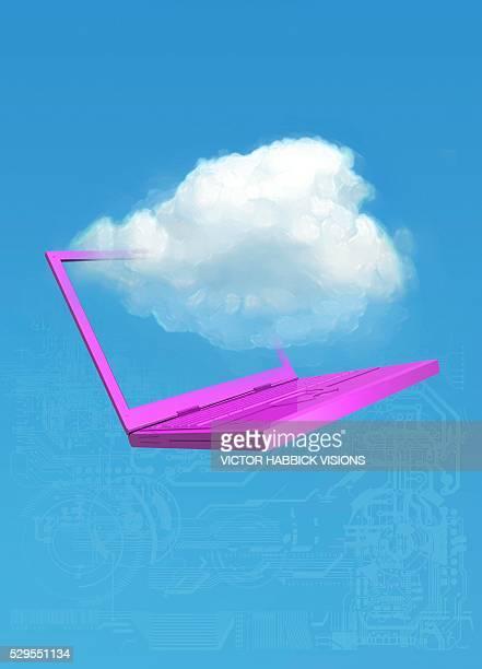 Cloud computing, conceptual artwork