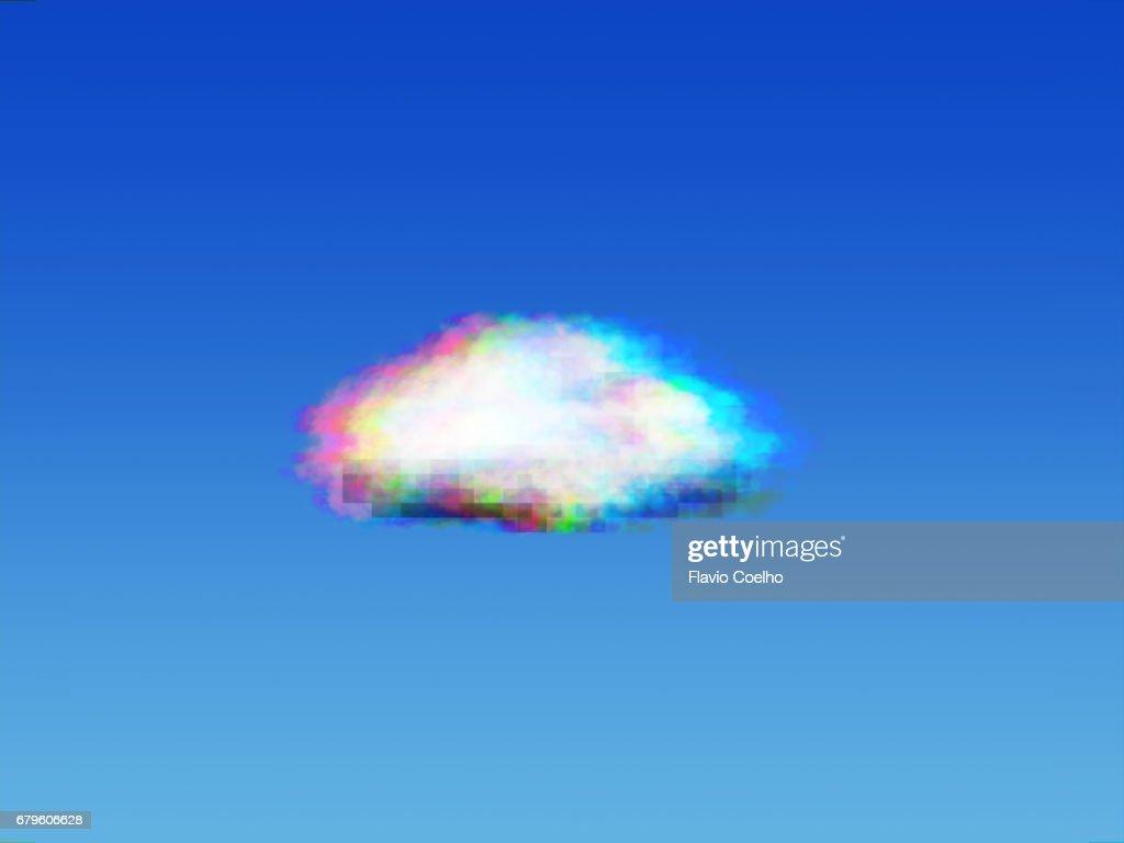 Cloud computing glitch : Stock Photo