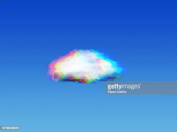 cloud computing glitch - cloud computing stock photos and pictures
