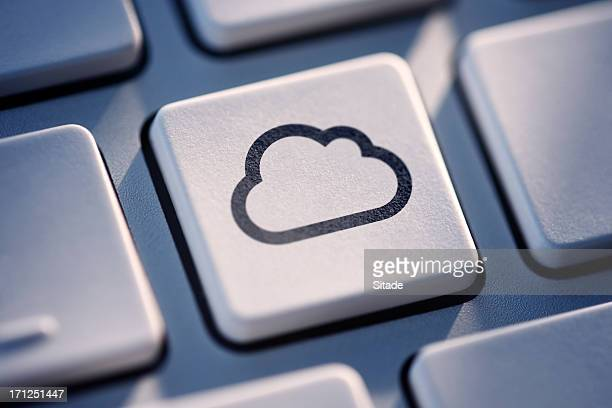 Cloud Computing Key On Computer Keyboard