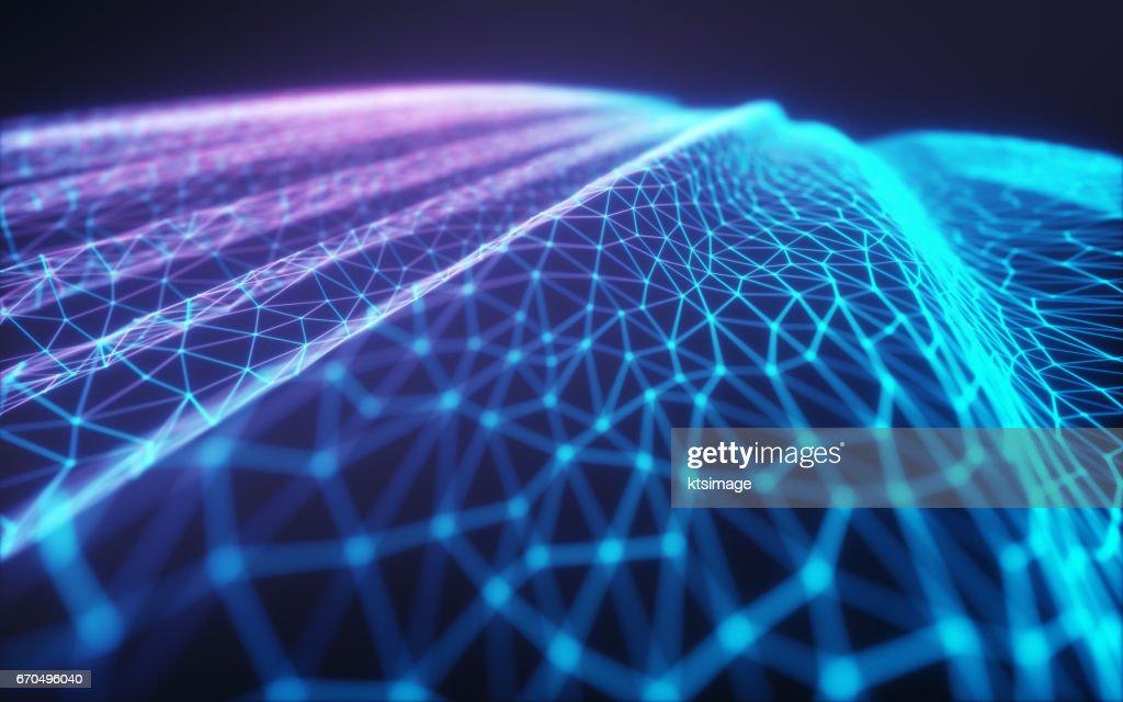 Cloud Computing / Neural Network : Stock Photo