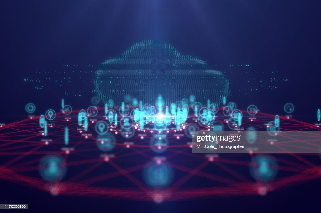 Cloud computing technology and internet of Things concept,Big data and connection technology : Bildbanksbilder