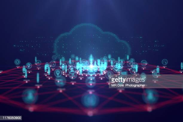 cloud computing technology and internet of things concept,big data and connection technology - image stock-fotos und bilder